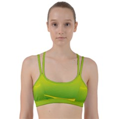 Background Color Fresh Beautiful Line Them Up Sports Bra