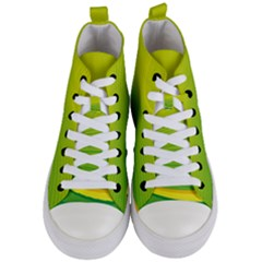 Background Color Fresh Beautiful Women s Mid Top Canvas Sneakers