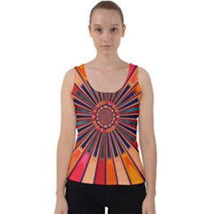 Color Background Structure Lines Velvet Tank Top