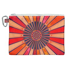 Color Background Structure Lines Canvas Cosmetic Bag (xl)