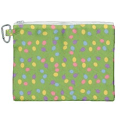 Balloon Grass Party Green Purple Canvas Cosmetic Bag (xxl) by Simbadda