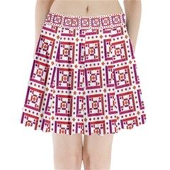 Background Abstract Square Pleated Mini Skirt