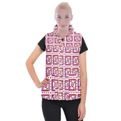 Background Abstract Square Women s Button Up Vest