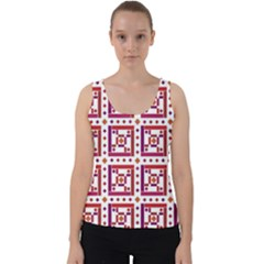 Background Abstract Square Velvet Tank Top by Simbadda