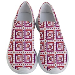 Background Abstract Square Women s Lightweight Slip Ons