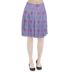 Pattern Pink Hexagon Flower Design Pleated Skirt