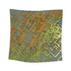 Art 3d Windows Modeling Dimension Square Tapestry (small) by Simbadda