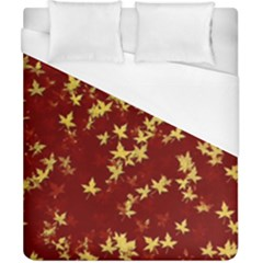 Background Design Leaves Pattern Duvet Cover (california King Size) by Simbadda