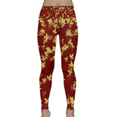 Background Design Leaves Pattern Lightweight Velour Classic Yoga Leggings
