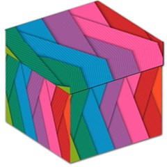 Abstract Background Colorful Strips Storage Stool 12   by Simbadda