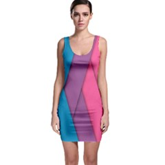 Abstract Background Colorful Strips Bodycon Dress