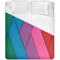 Abstract Background Colorful Strips Duvet Cover (california King Size) by Simbadda