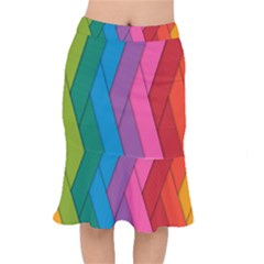 Abstract Background Colorful Strips Mermaid Skirt