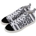 Monastic Antique Scroll Fruit Men s Mid-Top Canvas Sneakers View2