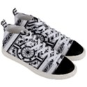 Monastic Antique Scroll Fruit Men s Mid-Top Canvas Sneakers View3
