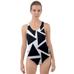 Black Triangle Cut Out Back One Piece Swimsuit