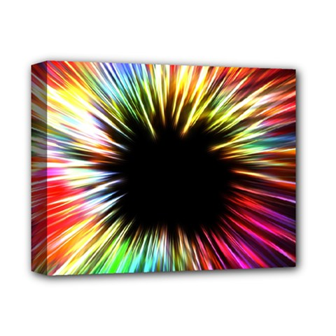 Color Background Structure Lines Deluxe Canvas 14  X 11  (stretched)
