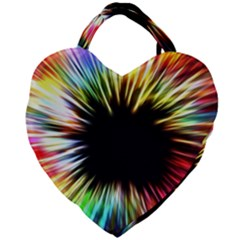 Color Background Structure Lines Giant Heart Shaped Tote by Simbadda