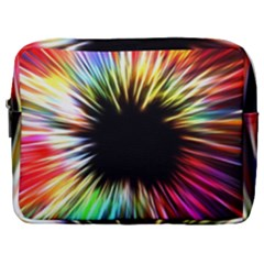 Color Background Structure Lines Make Up Pouch (large) by Simbadda