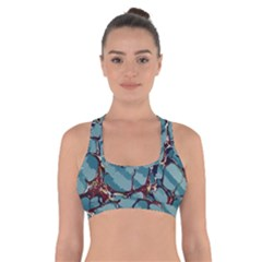 Marble Rock Comb Antique Cross Back Sports Bra