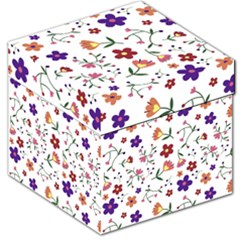 Flowers Pattern Texture Nature Storage Stool 12