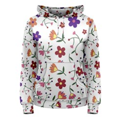 Flowers Pattern Texture Nature Women s Pullover Hoodie