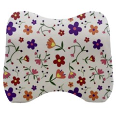 Flowers Pattern Texture Nature Velour Head Support Cushion