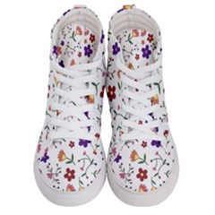 Flowers Pattern Texture Nature Men s Hi Top Skate Sneakers