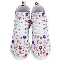 Flowers Pattern Texture Nature Women s Lightweight High Top Sneakers