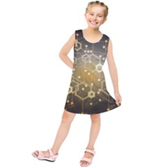 Block Chain Data Records System Kids  Tunic Dress