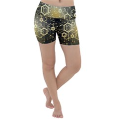 Block Chain Data Records System Lightweight Velour Yoga Shorts