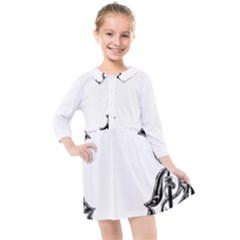 Holbein Antique Scroll Fruit Kids  Quarter Sleeve Shirt Dress by Simbadda