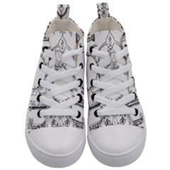 Leighton Floriated Antique Scroll Kid s Mid Top Canvas Sneakers