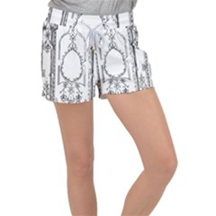 Leighton Floriated Antique Scroll Women s Velour Lounge Shorts