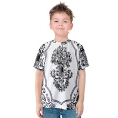 Floriated Antique Scroll Fruit Kids  Cotton Tee