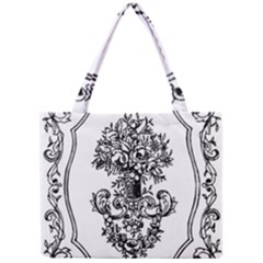 Floriated Antique Scroll Fruit Mini Tote Bag