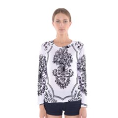 Floriated Antique Scroll Fruit Women s Long Sleeve Tee by Simbadda