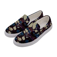 Marble Rock Comb Antique Women s Canvas Slip Ons by Simbadda