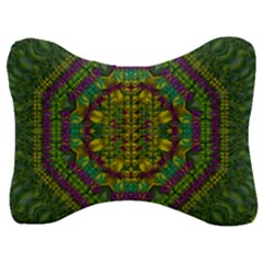 Butterfly Flower Jungle And Full Of Leaves Everywhere Velour Seat Head Rest Cushion by pepitasart