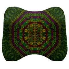 Butterfly Flower Jungle And Full Of Leaves Everywhere Velour Head Support Cushion by pepitasart