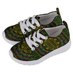 Butterfly Flower Jungle And Full Of Leaves Everywhere Kids  Lightweight Sports Shoes by pepitasart