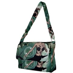 Wonderful Dark Mermaid With Awesome Orca Full Print Messenger Bag by FantasyWorld7