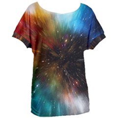 Universe Galaxy Sun Star Movement Women s Oversized Tee by Simbadda