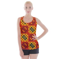 Squares And Other Shapes Pattern                                                      Criss Cross Back Tank Top