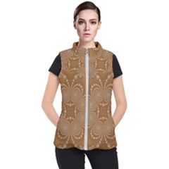 Fractal Pattern Decoration Abstract Women s Puffer Vest