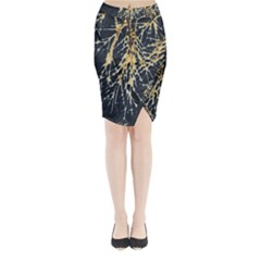 Nature Model No One Wallpaper Midi Wrap Pencil Skirt