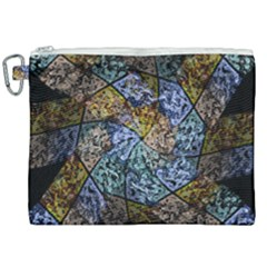 Multi Color Tile Twirl Octagon Canvas Cosmetic Bag (xxl) by Simbadda