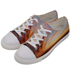 Sunset Beach Ocean Scenic Women s Low Top Canvas Sneakers by Simbadda