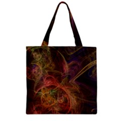 Abstract Colorful Art Design Zipper Grocery Tote Bag