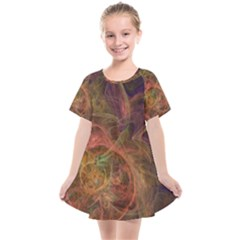 Abstract Colorful Art Design Kids  Smock Dress